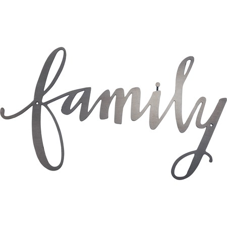 "Metal Word - Family - 13"" x 7.25"" - Metal"