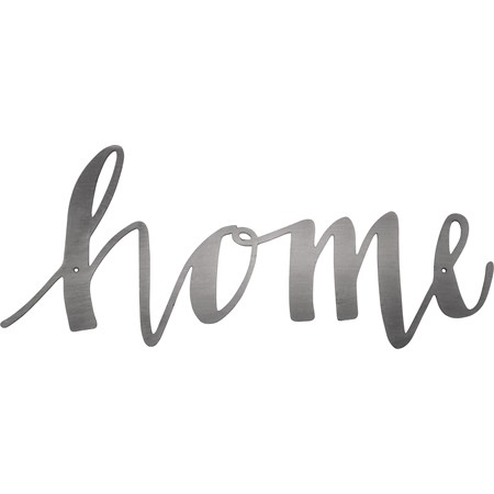 "Metal Word - Home - 15"" x 6.25"" - Metal"