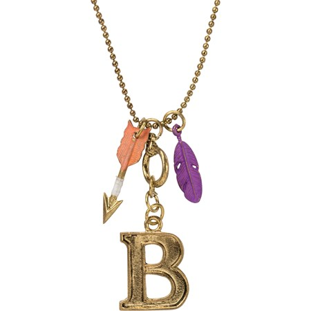 "Necklace - B - 30"" Chain - Metal"