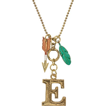 "Necklace - E - 30"" Chain - Metal"