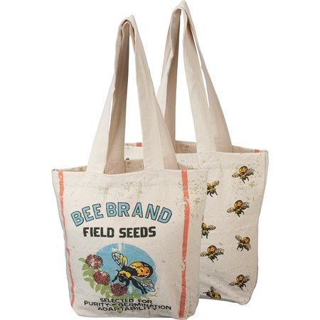 "Tote - Bee - 14"" x 14.25"" - Cotton"