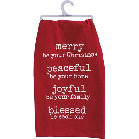 "Dish Towel - Merry Be - 28"" x 28"" - Cotton"
