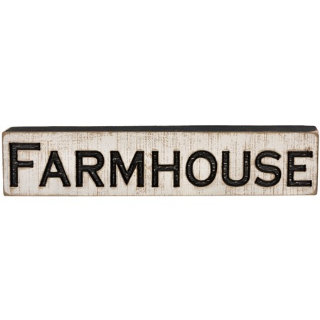 "Carved Sign - Farmhouse - 26"" x 5.25"" x 1"" - Wood"
