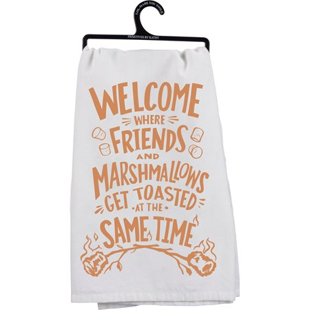 "Dish Towel - Get Toasted - 28"" x 28"" - Cotton"