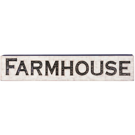 "Jumbo Carved Sign - Farmhouse - 47"" x 9"" x 1"" - Wood"