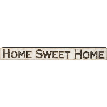 "Carved Sign - Home Sweet Home - 47"" x 5.25"" 1"" - Wood"