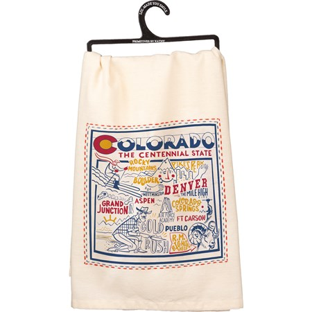 "Dish Towel - Colorado - 28"" x 28"" - Cotton"
