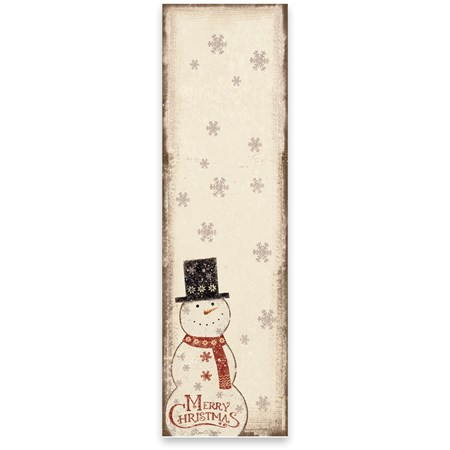 "List Notepad - Merry Christmas  - 2.75"" x 9.50"" x 0.25"" - Paper, Magnet"