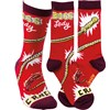 Socks - Boss Lady - One Size Fits Most - Cotton, Nylon, Spandex