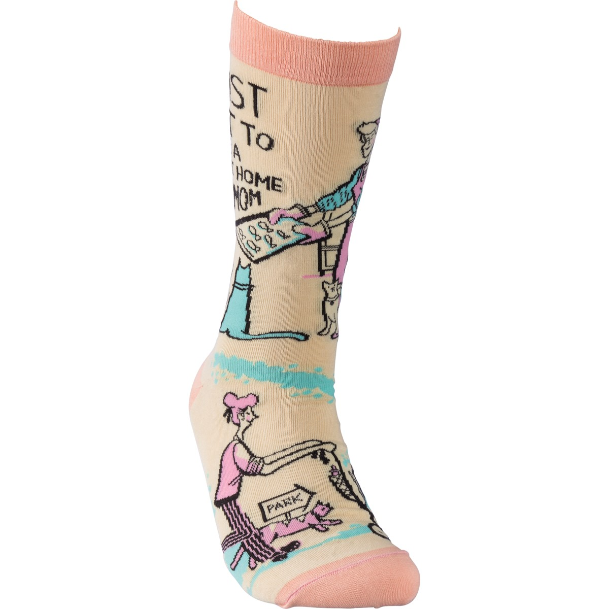 Socks - Be A Stay At Home Cat Mom - One Size Fits Most - Cotton, Nylon, Spandex