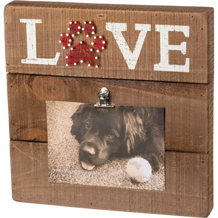 "String Art Frame - Pet Love - 12"" x 12"" x 2"", Fits 6"" x 4"" Photo - Wood, Metal, String"