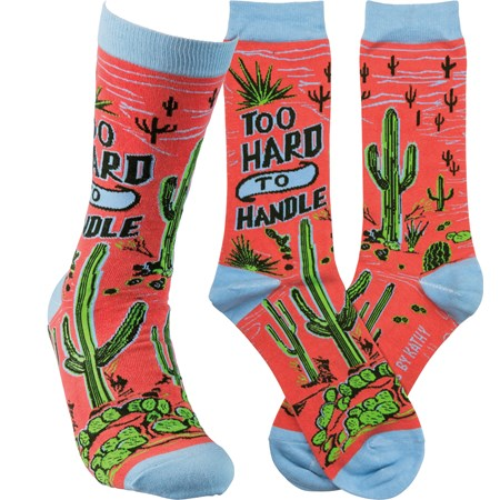 Socks - Too Hard To Handle - One Size Fits Most - Cotton, Nylon, Spandex