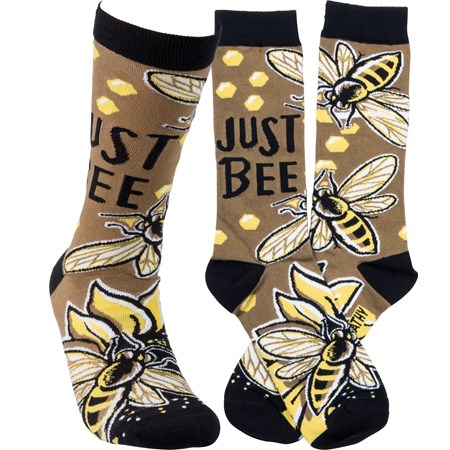 Socks - Just Bee - One Size Fits Most - Cotton, Nylon, Spandex