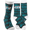 Socks - Camping Socks - One Size Fits Most - Cotton, Nylon, Spandex