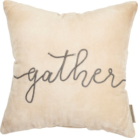 "Pillow - Gather - 15"" x 15"" - Velvet"