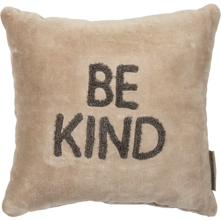 "Pillow - Be Kind - 10"" x 10"" - Velvet"
