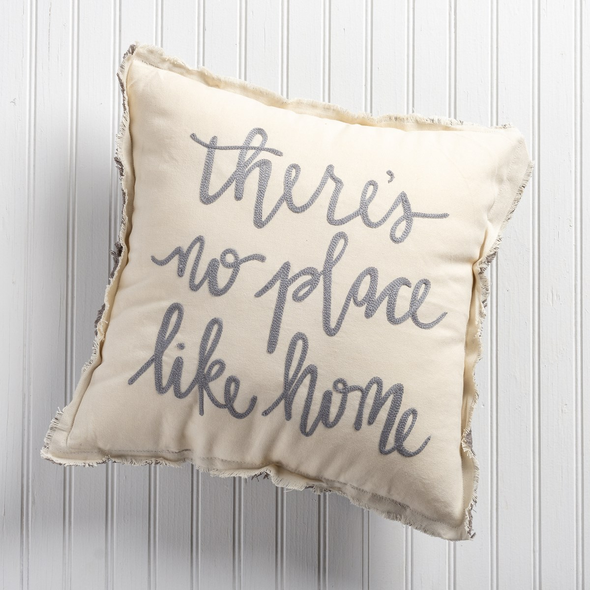 "Pillow - There's No Place Like Home  - 15"" x 15"" - Cotton, Zipper"