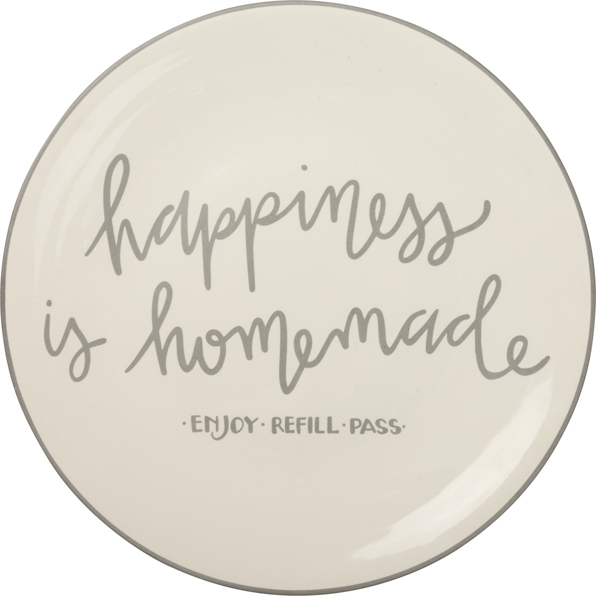 "Blessing Plate - Happiness Is Homemade  - 12"" Diameter - Stoneware"