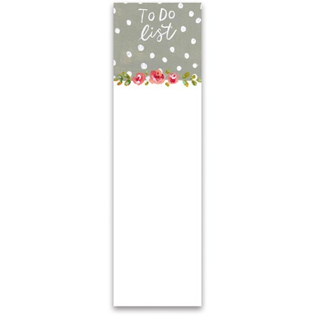 "List Notepad - To Do List - 2.75"" x 9.50"" x 0.25"" - Paper, Magnet"