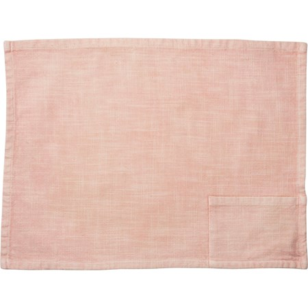 "Pocket Placemat - Blush - 19"" x 13"", Pocket: 6"" x 3.50"" - Cotton"