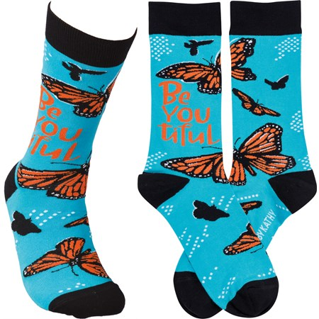 Socks - Be You tiful - One Size Fits Most - Cotton, Nylon, Spandex