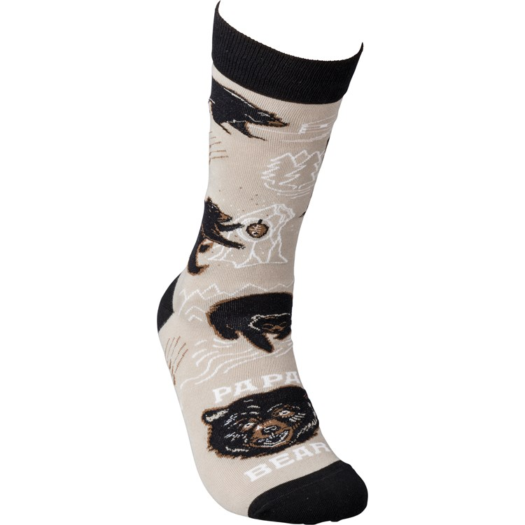 Socks - Papa Bear (If You Read This Ask Mom) - One Size Fits Most - Cotton, Nylon, Spandex