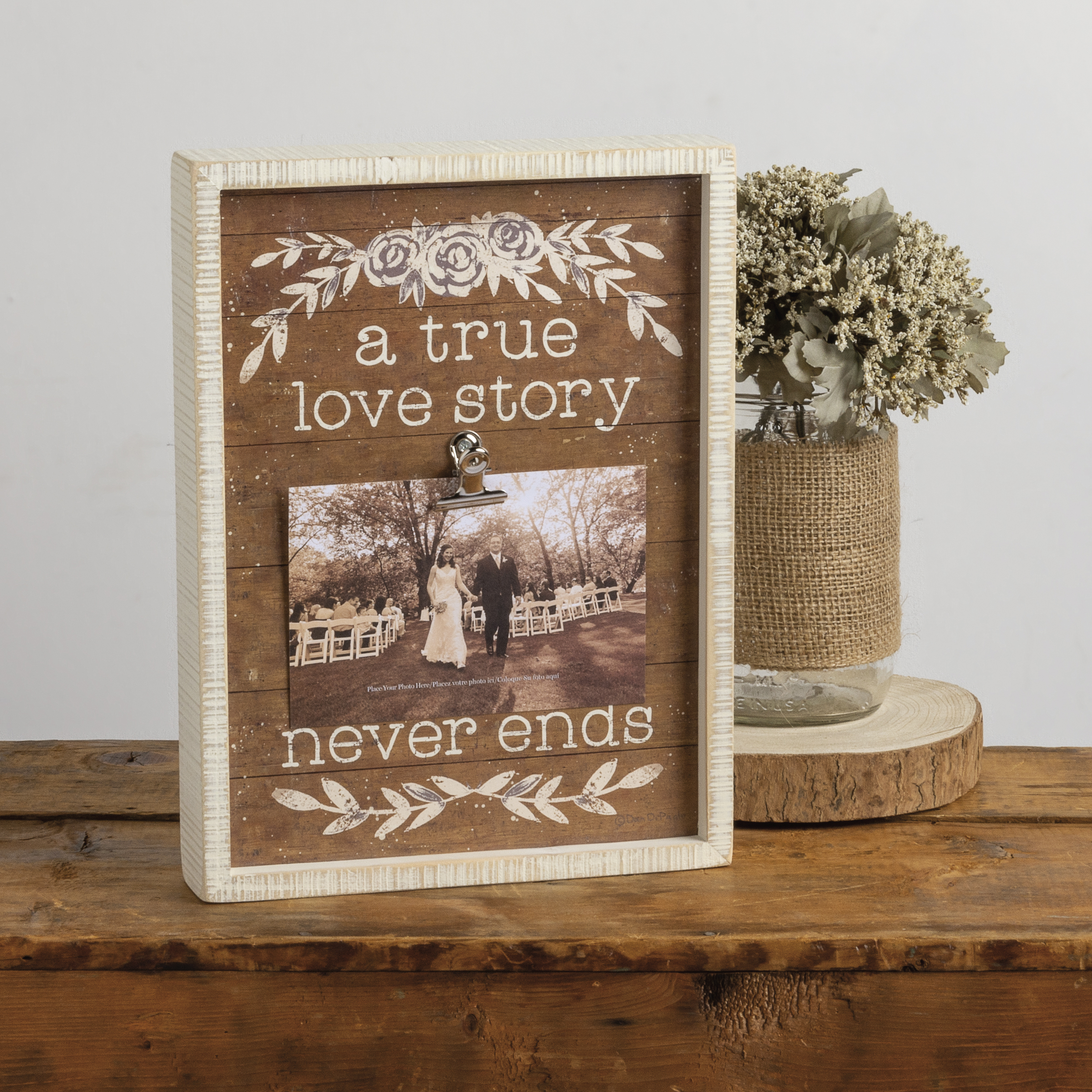Inset Box Frame - A True Love Story Never Ends - Wedding Collection |  Primitives By Kathy