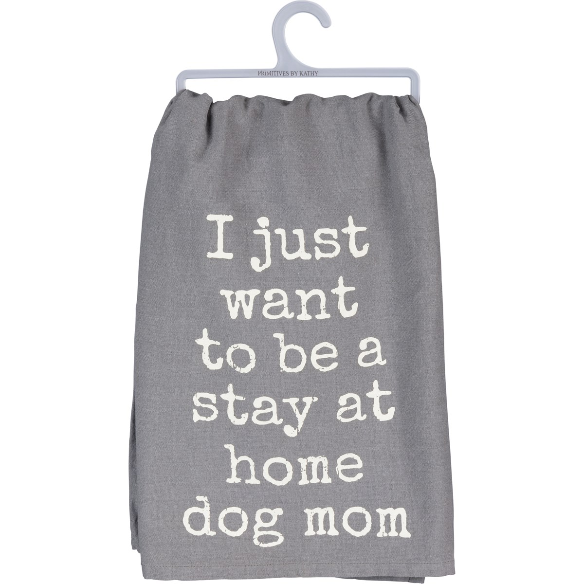 "Dish Towel - Want To Be A Stay At Home Dog Mom - 28"" x 28"" - Cotton"