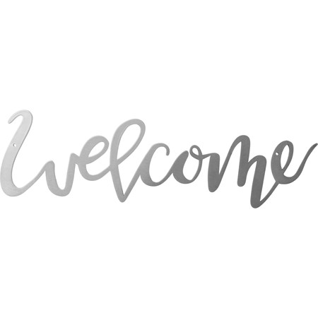"Metal Word - Welcome - 13"" x 3.50"" - Metal"