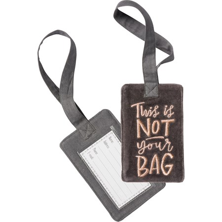 "Luggage Tag - This Is Not Your Bag - 3.25"" x 5.25"" - Velvet, Plastic"