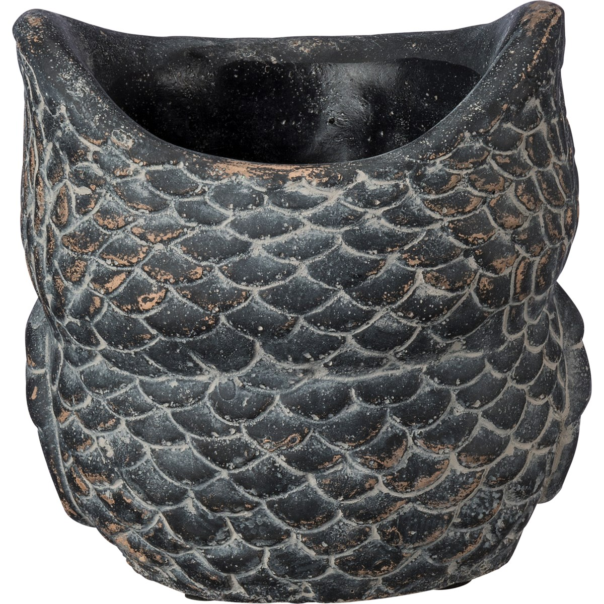 "Cement Owl Planter - Lg - 5.50"" x 5"" x 5.50"" - Cement"