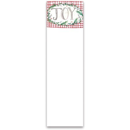"List Notepad - Joy - 2.75"" x 9.50"" x 0.25"" - Paper, Magnet"