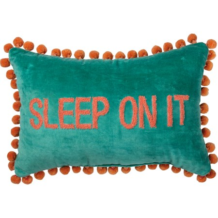 "Pillow - Sleep On It - 15"" x 10""  - Velvet"