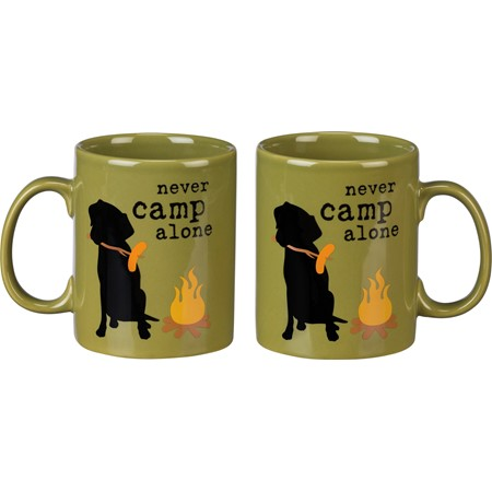 Mug - Never Camp Alone - 20 oz. - Stoneware