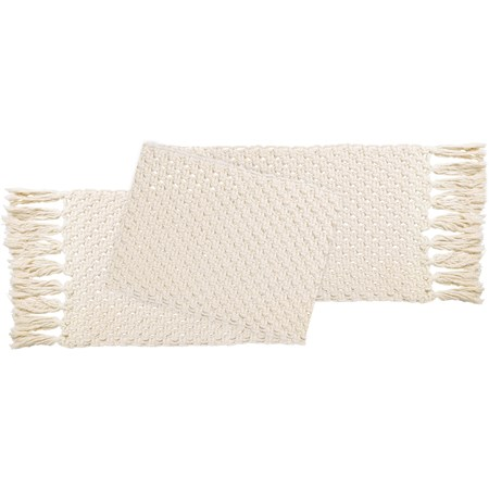 "Macrame - Table Runner - 43"" x 17"" - Cotton"