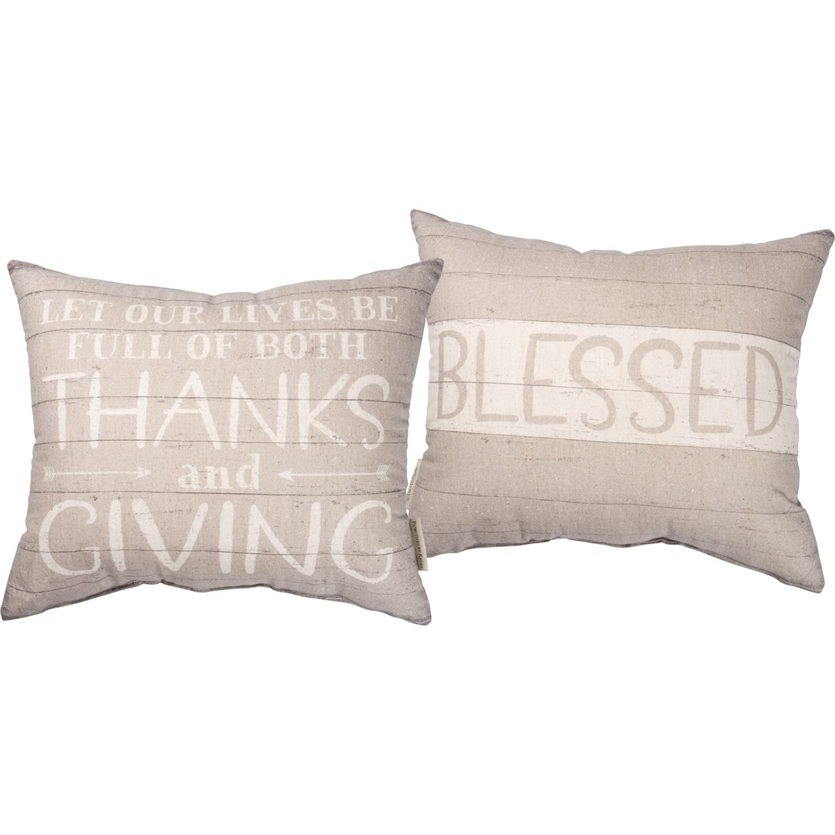 "Pillow - Lives Full Of Thanks And Giving - 16"" x 14"" - Cotton, Linen"