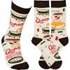Socks - Queso Dip Recipe - One Size Fits Most - Cotton, Nylon, Spandex