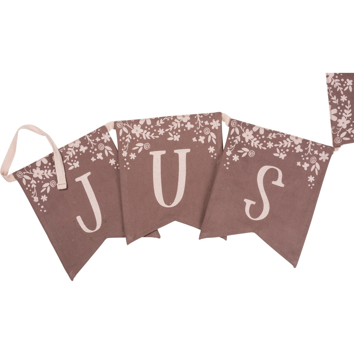 "Pennant Banner - Just Married - 99"" x 8"" - Cotton"