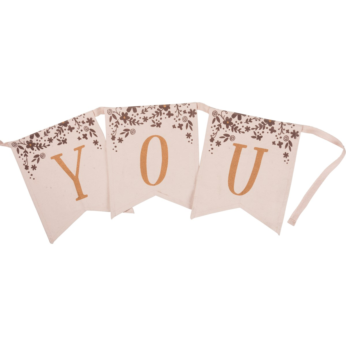 "Pennant Banner - Thank You - 72"" x 8"" - Cotton"