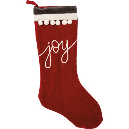 "Stocking - Joy - 9.50"" x 19""  - Velvet"