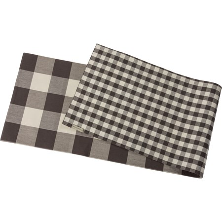 "Runner - Buffalo Check - 56"" x 15"" - Cotton"