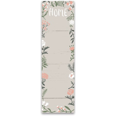 "List Notepad - Home - 2.75"" x 9.50"" x 0.25"" - Paper, Magnet"