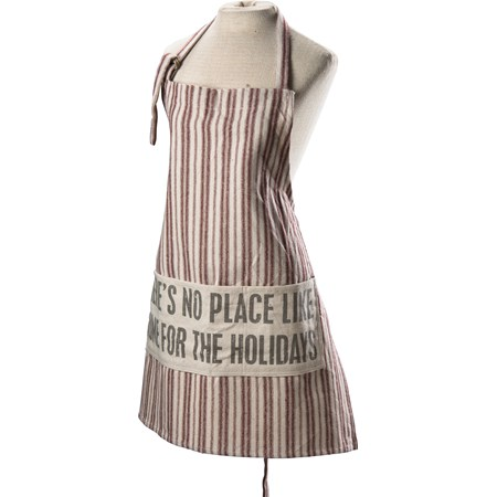 "Apron - No Place Like Home - 27.50"" x 28"" - Cotton, Polyester"