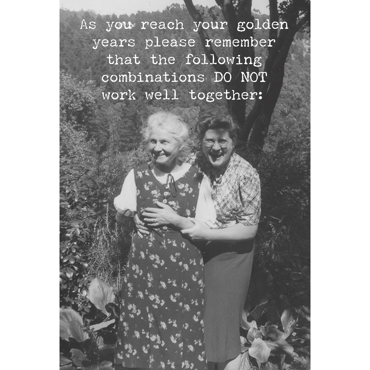 "Greeting Card - Golden Years - 4.75"" x 7"" - Paper"