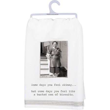 "Dish Towel - Can Of Biscuits - 28"" x 28"" - Cotton"