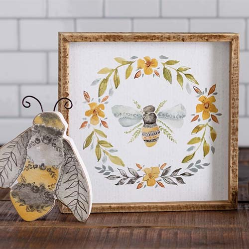 Hand Illustrated Garden Watercolor Bees Collection by Annie Quigley