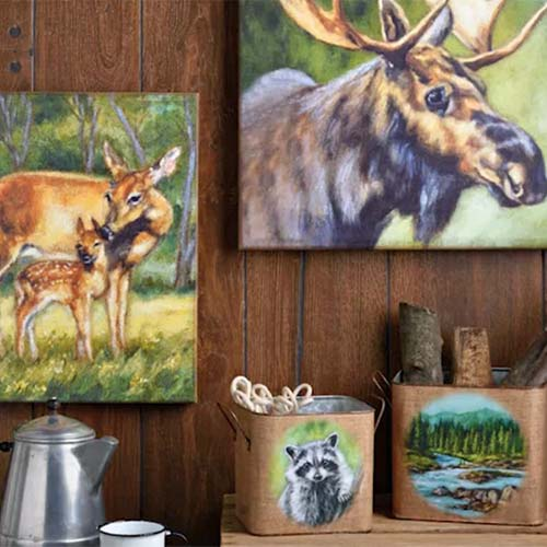Painted Woodland Collection by Michele Kixmiller
