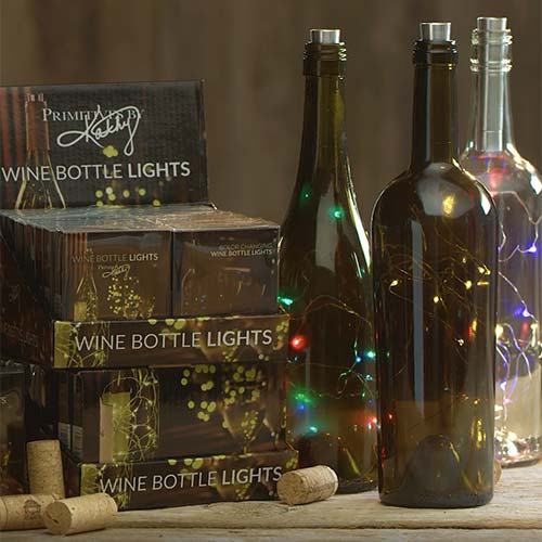Wine Bottle Lights Collection - Primitives by Kathy